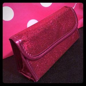 Hot pink makeup case